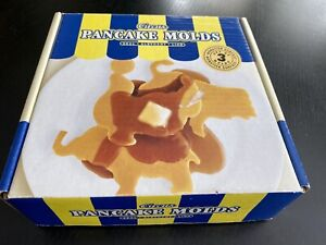Circus Pancake Molds Williams Sonoma Set 3 Seal Elephant Lion BRAND NEW