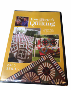 2300 Series: Fons and Porter Love of Quilting Series 13 Episodes $31.98
