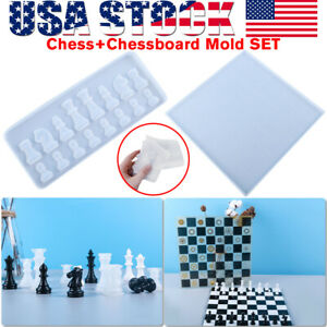 Silicone Resin Chess Mold Jewelry Pendant Mould Epoxy Craft Making Handmade Tool $14.59