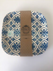 New Patina Vie Anthropologie Libson Bamboo 10 Square Dinner Plate Set Of 4 $39.00