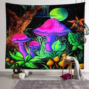 Mandala Trippy Psychedelic Tapestry Wall Hanging Blanket Home Background Decor A $11.49