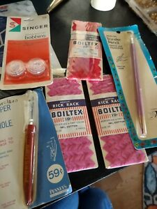 VINTAGE SEWING SINGER BOBBINS SEAM RIPPER RICK RACK RESCUE NEW OLD STOCK $15.00