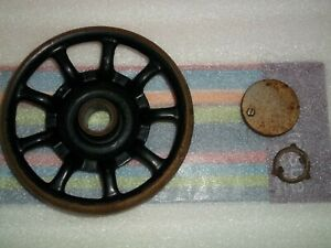 Antique Singer 66 Sewing Machine Spoked Hand Wheel 1923 Rusty $24.50