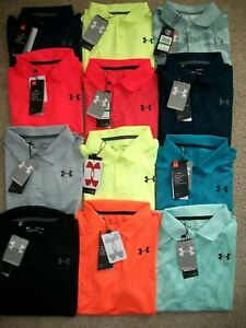 NWT $65 LOT OF 2 BOYS UNDER ARMOUR POLO SHIRTS YSM YLG YXL MULTI COLORED 481 $36.99