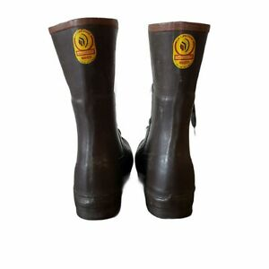 Vintage Lacrosse Outdoorsman Lace Up Rubber Hunting Boots Men#x27; 10 Hunting boot