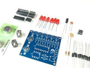 Knight Rider LED Effect with CD4017 and NE555 IC Learn to Solder Kit DIY Kit $11.99