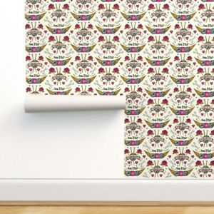 Wallpaper Roll Tattoo Knitting Needles Vintage Tattoos Ting Rose 24in x 27ft $8.00