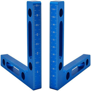 RIGHT ANGLE FRAMING SQUARE #x27;L#x27; RULER 90 DEGREE12x12x1.6cm ROOFING CORNER TOOL $11.71