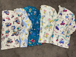 Scrub Tops Long Sleeved Size Large 5 pieces