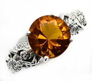 3CT Smoky Topaz 925 Solid Sterling Silver Vintage Art Ring Jewelry Sz 9 SF16 $38.99