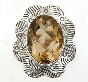 Natural 6CT Smoky Topaz 925 Sterling Silver Ring Jewelry Sz 6 ED31 6 $29.99