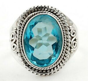 6CT Swiss Blue Topaz 925 Sterling Silver Ring Jewelry Sz 7.5 ED31 1 $27.99