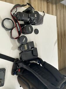 Canon 60D camera with Pro lens' and extra accessories