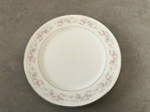 GLA Japan MARIA Fine Porcelain China Pink White Floral 10 3 8quot; DINNER PLATE