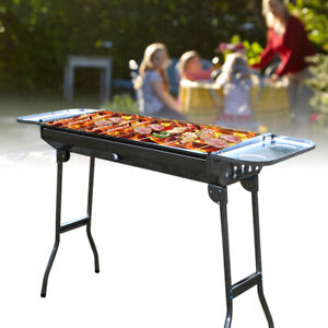 Smokeless Grill BBQ Portable Folding Grill Stove Shish Kebab Stainless Steel New