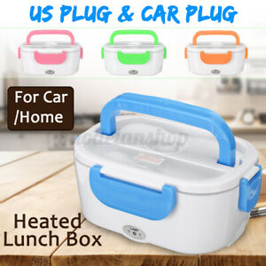 12V Portable Car Electric Heated Heating Lunch Box Bento Food Heater Warmer