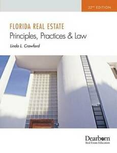 Florida Real Estate Principles Practices and Law 32nd Edition GOOD $9.80