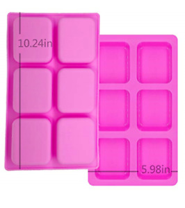 MCHEN Rectangle Soap Lotion Bar Mold Food Grade Silicone Baking Molds $9.99