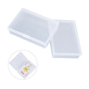 2PCS Plastic Box Playing Cards Container Storage Case Poker Game Card Box * dr C $3.62