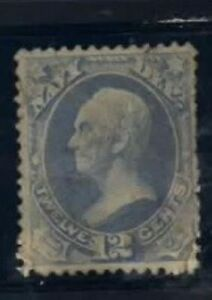O41 Navy 6 cent Official Stamp used repaired $6.00