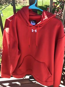 under armour hoodie mens large 100% Polyester Red $11.80