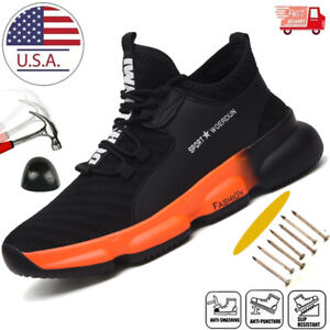 Mens Work Safety Shoes Steel Toe Cap Boots Indestructible Lightweight Sneakers