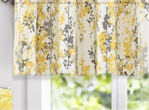 DriftAway Leah Abstract Floral Blossom Ink Painting Window Curtain Valance $24.95