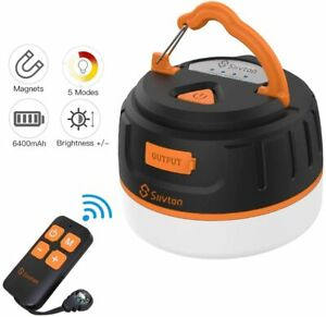 Siivton Camping Lights Rechargeable Camping Lantern with Remote amp; Power Bank