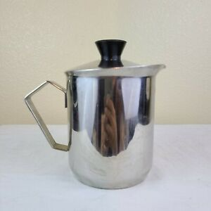 ILSA Stainless Steel Milk Frothing Pitcher INOX 18 10 MADE IN ITALY Coffee Holes