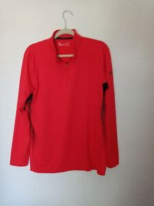 Under Armor Cold Gear Reactor Red Pullover 1 4 Zipper Top Size Large $19.99