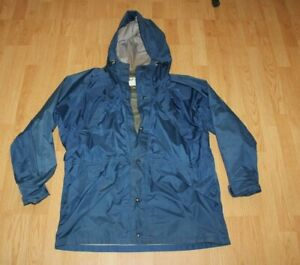 REI Gore Tex Rain Packable Jacket Hooded Blue Made USA Mens Large L $38.99