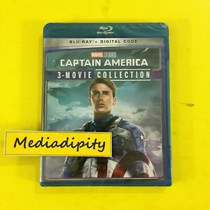 Marvel CAPTAIN AMERICA TRILOGY 1 2 3 BLU RAY DIGITAL SET Movie Collection NEW $17.95
