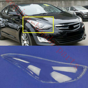 Replace Right Side Clear headlight cover PCGlue For Hyundai Elantra 2011 2016AA $47.00