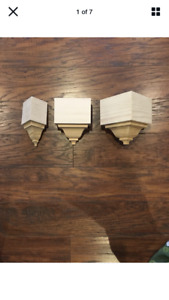 """Crown Molding Corners bare pine 8 piece set for up to 3 5 8"""" transition $95.00"""