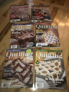 Lot of 6 Fons and Porter#x27;s Love of Quilting Magazines 2006 2007 All Seasons $6.00