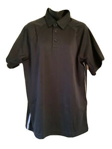 Under Armour Golf Polo Shirt XLarge Performance Mens Loose Fit Black Stripe $28.00