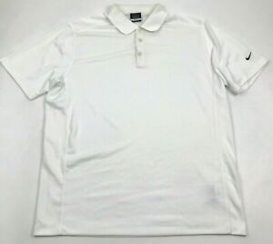 Nike Golf Polo Dry Fit Shirt Men Size Extra Large White Performance Top Collared $18.77