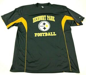 Newbury Park Steelers Football Dry Fit Shirt Size 2XL XXL Gray Yellow Loose Fit $15.02