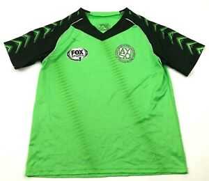 Score AYSO Soccer Jersey Size Small S Adult Lime Green Dry Fit Shirt V Neck Tee $15.02