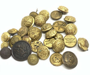 Large Lot Of Vtg and Antique Military Buttons $46.00