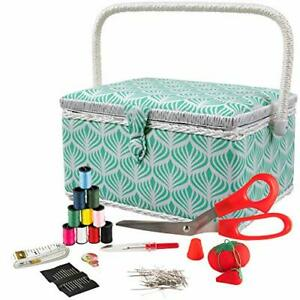 SINGER 07229 Sewing Basket with Sewing Kit Needles Thread Pins Scissors and $30.37