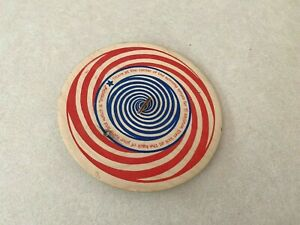 Channel Craft Wood Penny Spinner Spiral Toy Optical Illusion 2011