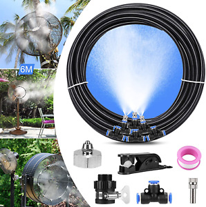 Outdoor Misting Fan Kit for a Cool Patio Breeze Water Mister Spray for Cooling