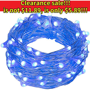 Outdoor Waterproof Copper Wire Solar String Lights LED Garden Xmas Party Decor $5.89