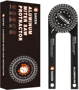 Saker Miter Saw Protractor 7 Inch Aluminum Protractor Angle Finder Featuring $36.39