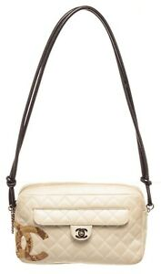 Chanel White Quilted Leather Cambon Shoulder Bag $1995.00