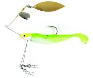 Lunker Lure Triple Play Spinnerbait w Shad Tail