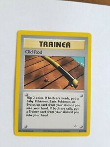 OLD ROD 64 64 Neo Revelation Trainer Unlimited Pokemon Card Light Play