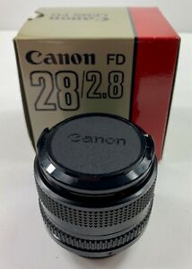 New Canon Lens FD 28mm 1:2.8 Front amp; Back Cap New Old Stock
