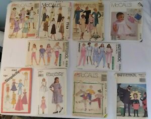 Lot of 10 Vintage Sewing Assort Used Patterns McCall#x27;s Butterick Simplicity $5.99